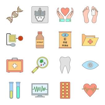 Icon set von medizinischen