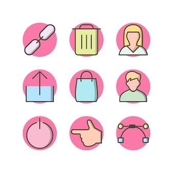 Icon-set von multimedia für den persönlichen und kommerziellen gebrauch