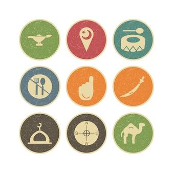 Icon-set von ramadan für den persönlichen und kommerziellen gebrauch