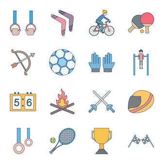 Icon-set von sport und spiel