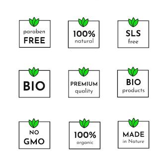 Icon-set von trendigen etiketten