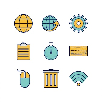 Icon set von web