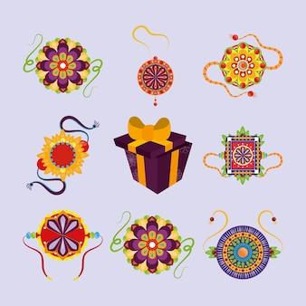 Icons armbänder geschenkboxen