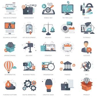 Icons für die website-entwicklung