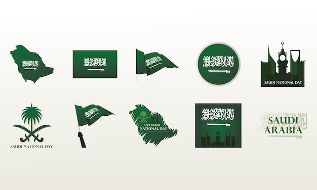 Icons set saudi-arabien