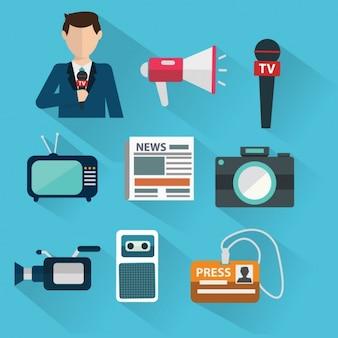 Icons über den Journalismus