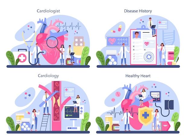 Idee der herzversorgung und medizinischen diagnostik