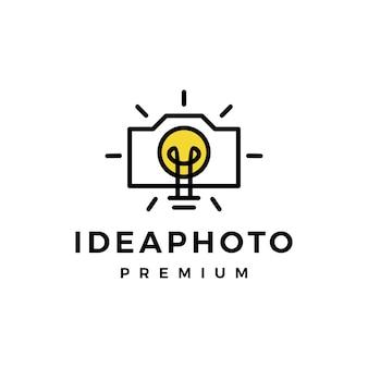 Idee fotolampe glühbirne smart think logo