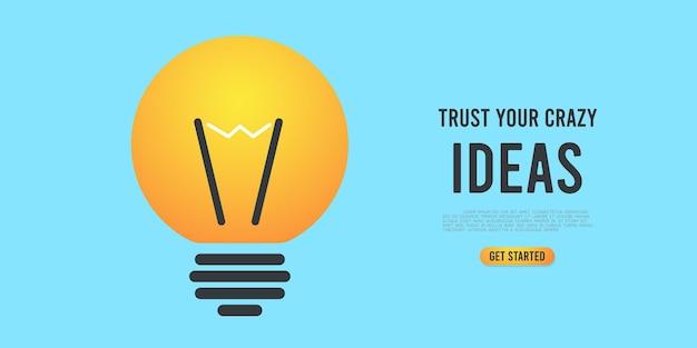 Idee glühbirne illustration