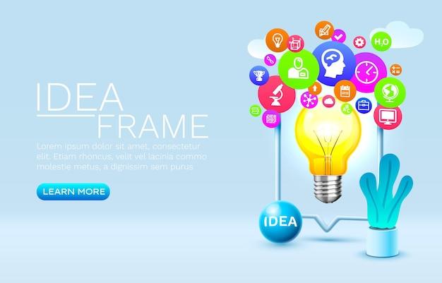 Idee icons smartphone handy bildschirm technologie handy display vektor
