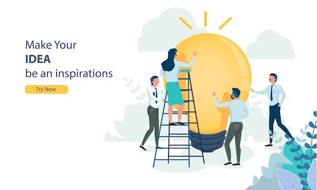 Idee kreativ für business-team-arbeit
