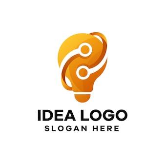 Idee logo-design mit farbverlauf