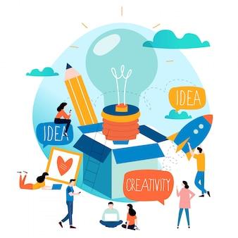 Idee, über den tellerrand hinaus, inhaltliche entwicklung, brainstorming