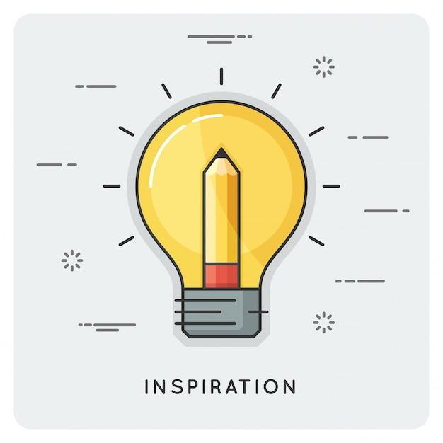 Idee und inspiration. dünne linie .