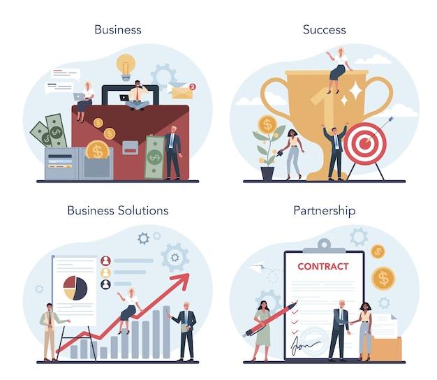 Idee von strategie und erfolg in partnerschaft