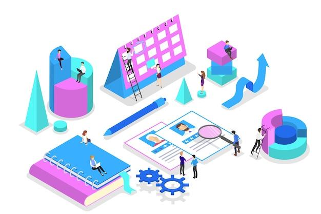 Idee von strategie und leistung in der teamarbeit