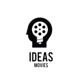 Ideen filme think studio film production logo design