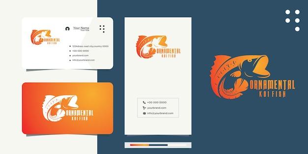 Ideen für k oi-fische und visitenkarten-designs