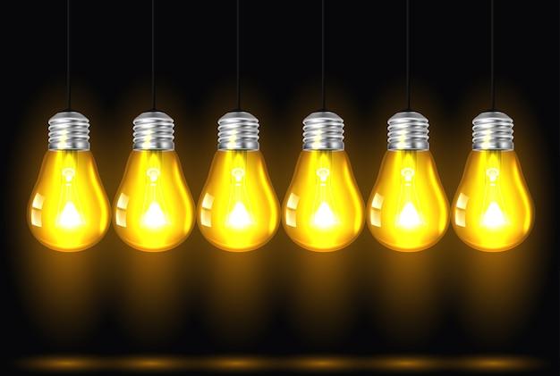 Ideenkonzept auf dunklem hintergrund