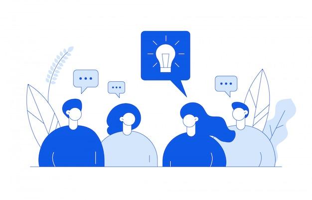 Ideenkonzept mit menschen
