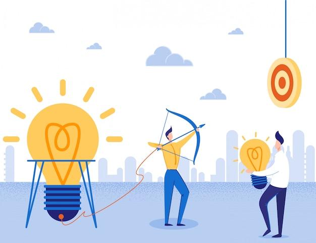 Ideenstart, fokus auf target business motivator