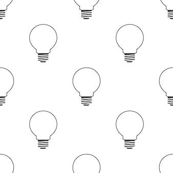 Ideensymbol, nahtloses vektormuster, bearbeitbar kann für webseitenhintergründe verwendet werden, musterfüllungen