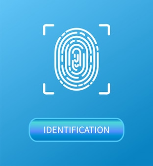 Identifizierungsposter zur überprüfung des fingerabdrucks
