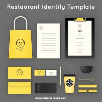 Identität corporate für gelb restaurant