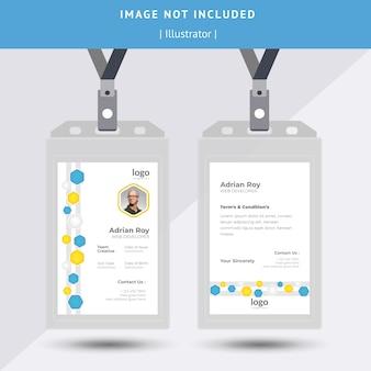 Identitäts- oder id-karten-design