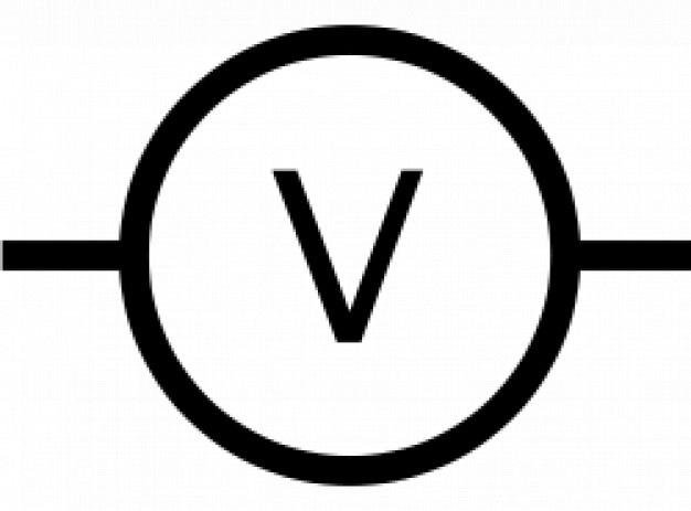 Iec voltmeter symbol