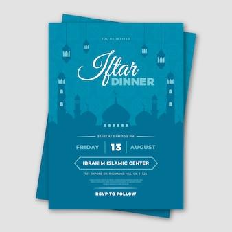 Iftar einladungsschablonenkonzept