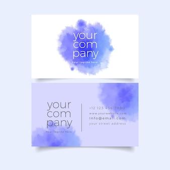 Ihre firmenvisitenkarteschablone mit blauen pastellfarben