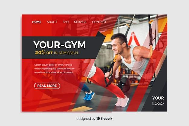 Ihre zielseite für die fitness-promotion