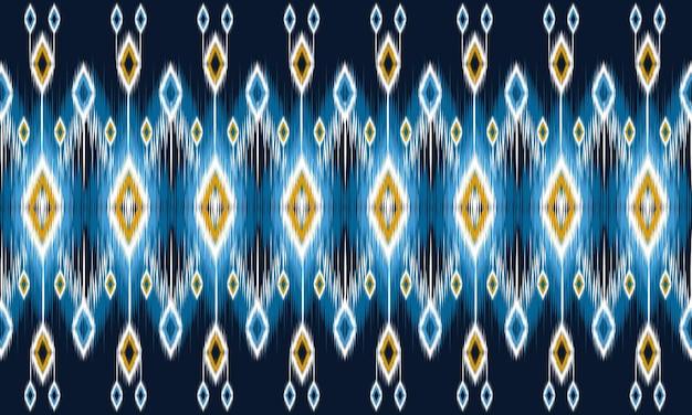 Ikat geometrische folklore-ornament mit diamanten. design für hintergrund, teppich, tapete, kleidung, verpackung, batik, stoff, vektorillustration. stickerei-stil.