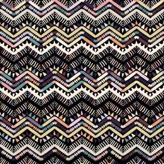 Ikat geometrisches zickzackmuster. stammes-ethnisches thema