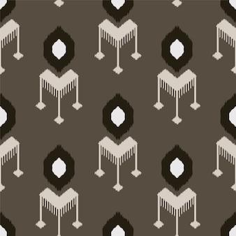 Ikat nahtlose muster design für stoff