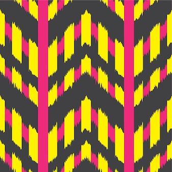 Ikat seamless pattern design für gewebe
