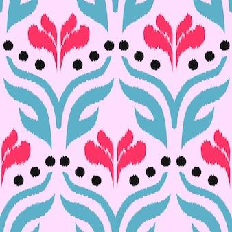 Ikat seamless pattern design für gewebe.