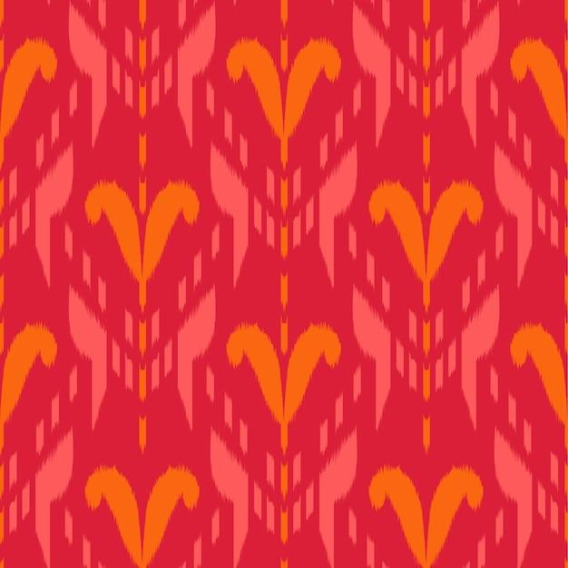 Ikat seamless pattern design