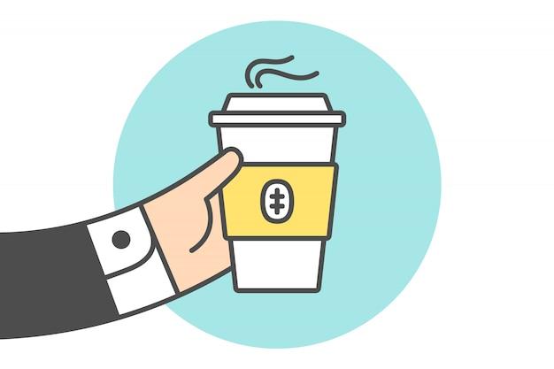 Ikone der kaffeetasse