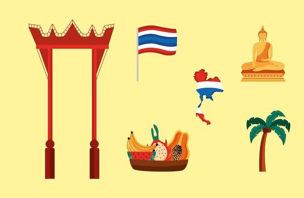 Ikonen der thailändischen kultur