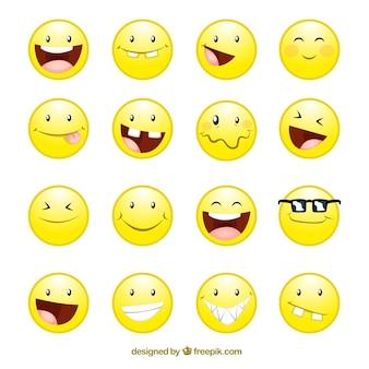 Ikonen lächeln gesichter