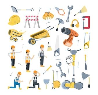 Ikonensatz von im Bau Elementen