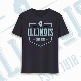 Illinois state grafik-t-shirt-design, typografie, druck. vektor-illustration.