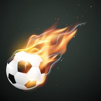Illlustration des brennenden fußballs