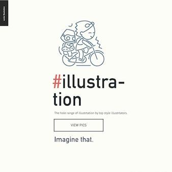 Illustartion-block-website-vorlage