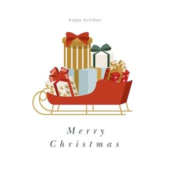 Illustartion design für weihnachtsgrußkarte.