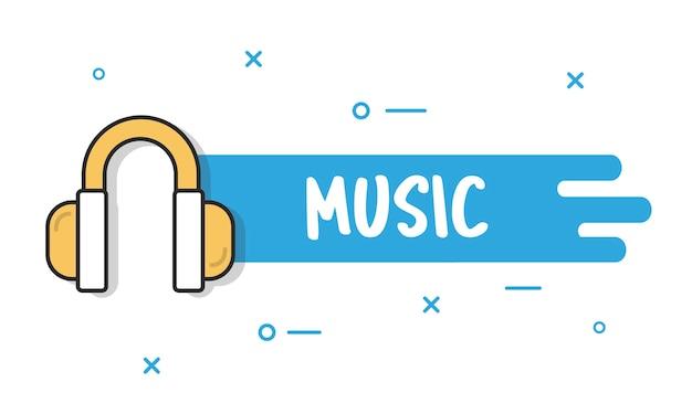 Illustation von musik concpet