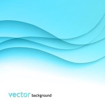 Illustration abstrakter bunter hintergrund mit blauer welle