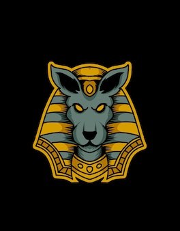 Illustration anubis kopf